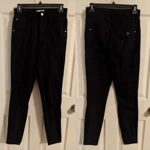 Guess black high rise skinny jeans